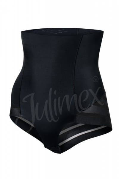 Julimex Shape & Chic Mesh High Waist Panty Black Ultra high waisted briefs with shaping effect S-2XL Mesh-141-BLK