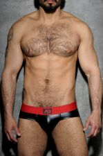 Fetish Rub brief black and red
