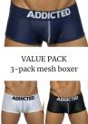 Addicted Mesh Boxer push up 3-pack-thumb Boxer 80% Polyamide, 15% Elastane, 5% Cotton S-XL AD477P