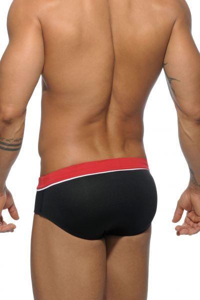 Addicted Sport detail binding swim brief black Brief 80% Polyamide, 20% Elastane S-3XL ADS109