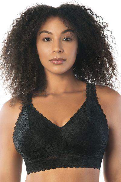 Parfait Lingerie Adriana Lace Bralette Black Non-wired, non-padded lace bralette 65-95, D-H P5482-B