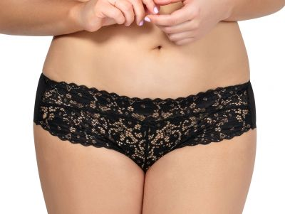 Parfait Lingerie Adriana Bikini Hipster Black Low waisted hipster brief S / 36-38 - 4XL / 60-62 P5483-B