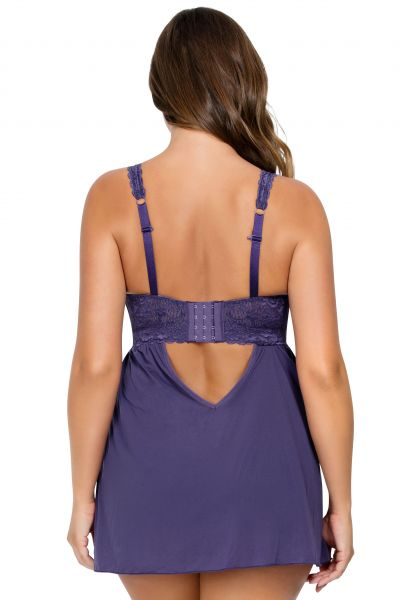 Parfait Lingerie Adriana Babydoll Mulberry Non-wired, non-padded lace babydoll 65-95, D-G P5488-MUL