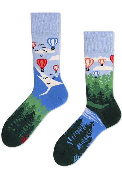 Many Mornings  Balloon Adventure Regular Socks 1 pair  35-38, 39-42, 43-46 R71