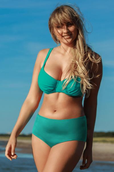 Plaisir Amalfi Bikini Bra Teal Underwired, non-padded bikini bra 80-100, D-H T0027
