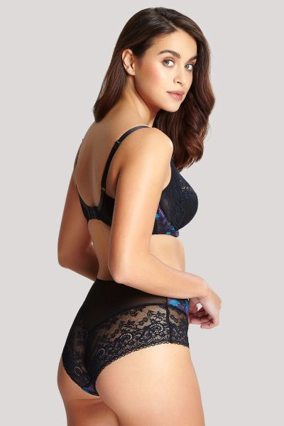 Panache Amelie Full Cup Bra Black Floral Underwired non-padded full cup bra 60-85, E-K 10045-BFL