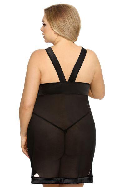 Anaïs apparel Anaïs+ Samara Mesh Dress Black  Plus sizes