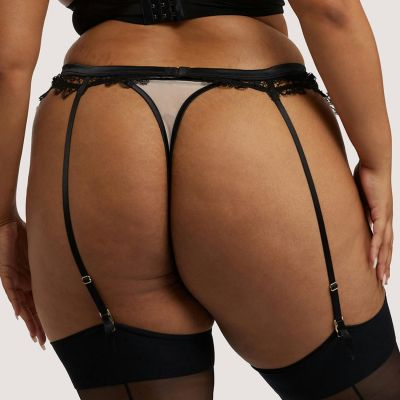 Playful Promises Anaise Suspender Belt Black Blush  M/40 - 6XL/54 PP-SB-3201B