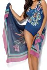 Ava Swimwear Anemone Pareo Blue Floral-thumb One size pareo One size PAR-1-ANE