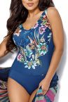 Anemone One-Piece Swimsuit Blue Floral-thumb