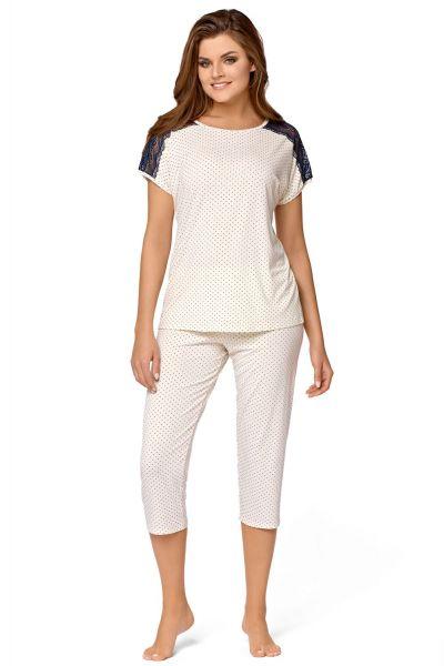 Babella Anna Pyjama Set Ivory 2 piece pyjama set S/34-36 - 2XL/50-52 ECR