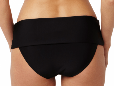 Anya Fold Bikini Pant Black