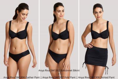 Panache Swimwear Anya Riva Balconnet Bikini Black  65-85 E-J SW1302-BLK