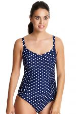 Anya Spot Swimsuit Navy Ivory