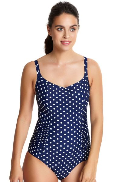 Anya Spot Swimsuit Navy Ivory