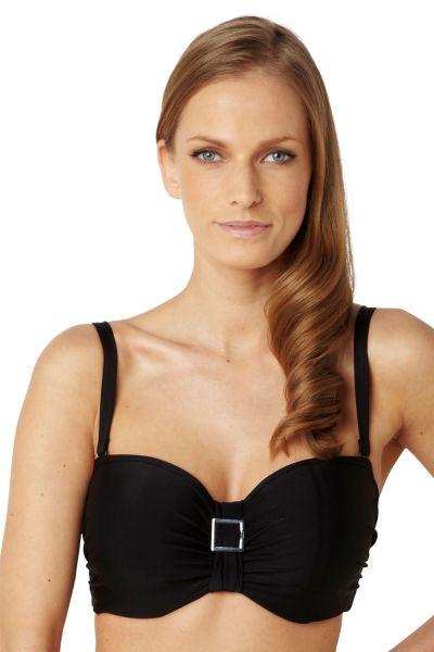 Anya Bandeau Bikini Top Black