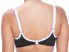 Freya Swim Back to Black Moulded Bikini Top Black and White-thumb Underwired, moulded and seamless plunge bikini top 60-85, D-J AS3702-BLK