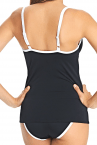 Freya Swim Back to Black Moulded Tankini Black and White-thumb Underwired, moulded and seamless tankini 60-85, D-J AS3703BLK