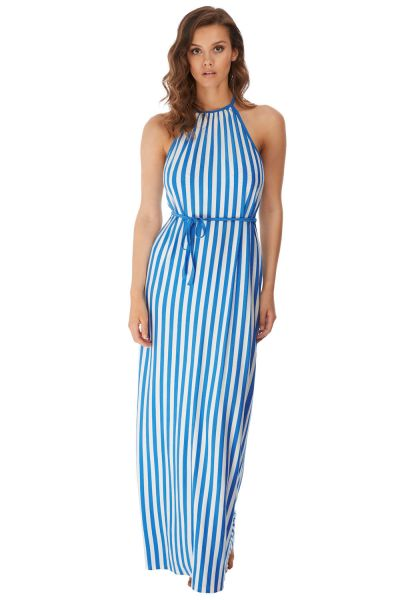 Freya Swim Beach Hut Maxi Dress Blue Moon Maxi dress with a thin belt S-XL AS6799-BMN
