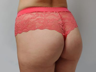 Plaisir Beate Brazilian Coral Brazilian brief with wide waist band 42-54 447-11-COR