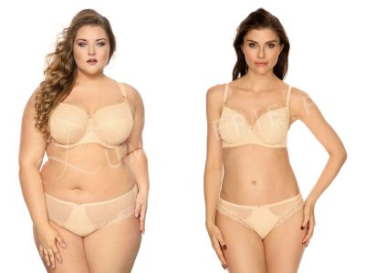 Bella Misteria Lace Fantasia Soft Bra Beige Underwired, soft cup bra with side support 65-105, D-L BS-37/38-BEZ-S16/SMX16