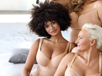 Bella Misteria Lace Fantasia Spacer Bra Beige T-shirt bra with smooth, seamfree cups and convertible straps 65-90, D-J BS-35-BEZ-SP2