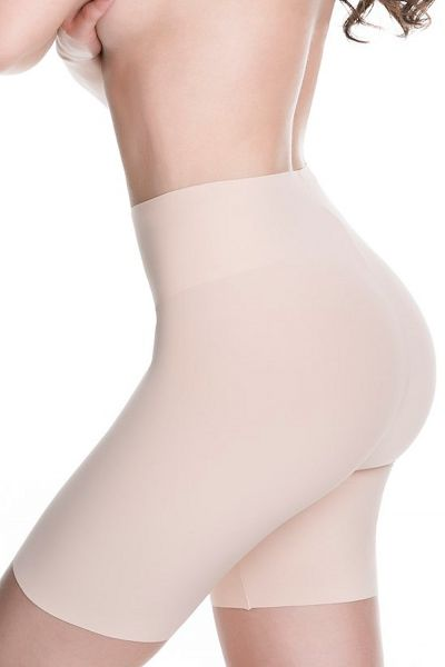 Julimex Bermuda Slim All Day Legged Briefs Beige Normal waisted, legged bermuda briefs with invisible seams and light tummy control S-4XL 574-BEZ