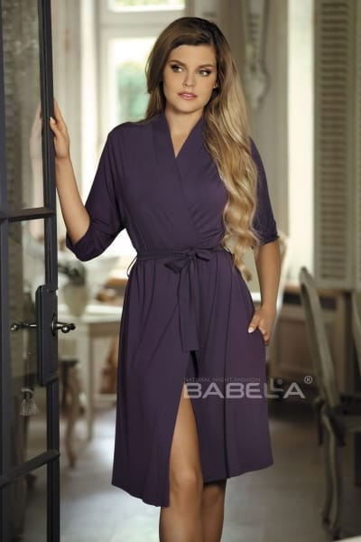 Bianca Dressing Gown Plum