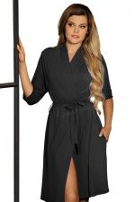 Bianca Dressing Gown Black