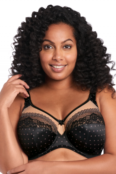 Goddess Bridget UW Banded Bra Black Latte Underwired, non-padded banded bra 75-105, E-N GD6070-BLK
