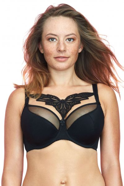 Caprice Semi-Soft Bra Black