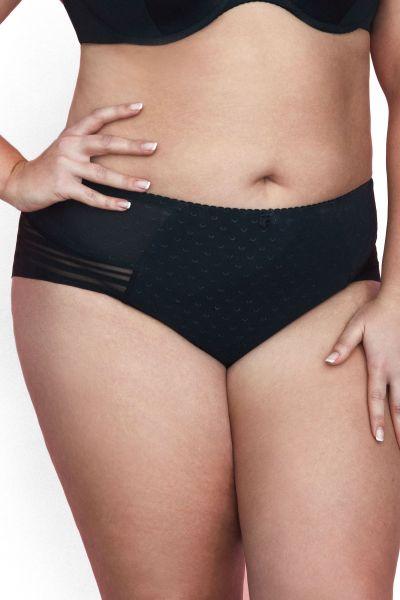 Gaia Lingerie Caprice Briefs Black Midi shape brief with normal waist M/38 - 4XL/48 GFM-782-CZA