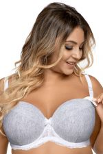 Catia Underwired Nursing Bra Grey Melange