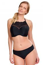 Ceylon High Neck Bandeau Bikini Black