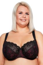Chantal Soft Bra Maxi Black Burgundy