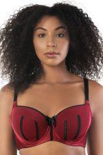 Charlotte Padded Bra Black Rio Red