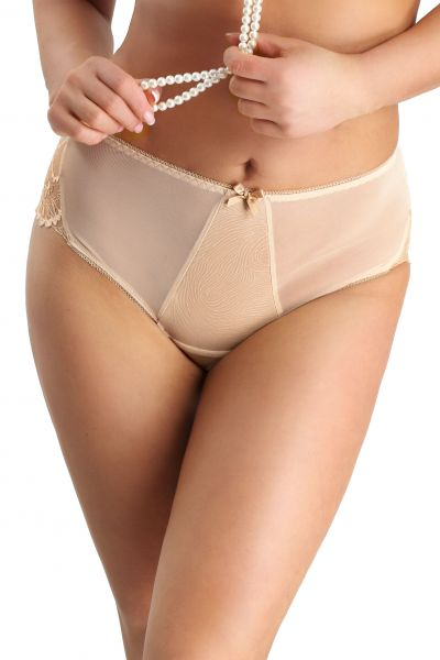 Nessa Clarisse High Waist Brief Beige  M-5XL NO2-BEZ