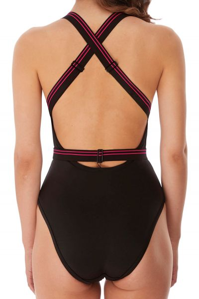 Freya Swim Club Envy Soft Swimsuit Black Non-wired swimsuit with lined inner cups. 34-42 AS6826-BLK