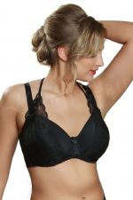 Coco T-shirt Bra with Removable Lace Black