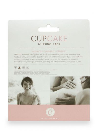 Cake Maternity  Cupcake Nursing Pads 2 pairs Durable and washable nursing pads, the packaging includes two pairs  14-1037-09