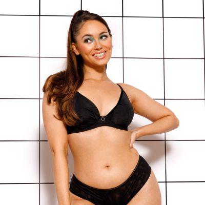 Curvy Kate Daily Plunge Bra Black Underwired, non-padded plunge bra 65-85 E-L CK-038-101-BLK