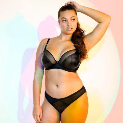 Curvy Kate Lucky Star Brazilian Black Wetlook Low waist brazilian brief 38-46 CK-031-202-BLK