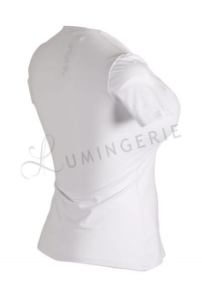 Urkye Dama Karo Short Sleeved Top White Sleeveless tailored top with diamond shaped neckline 34-44 O/OO, OO/OOO BL-032-BIA