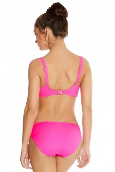 Freya Swim Deco Bikini Top Bright Pink Underwired, moulded and seamless plunge bikini top 60-85, D-J AS3284