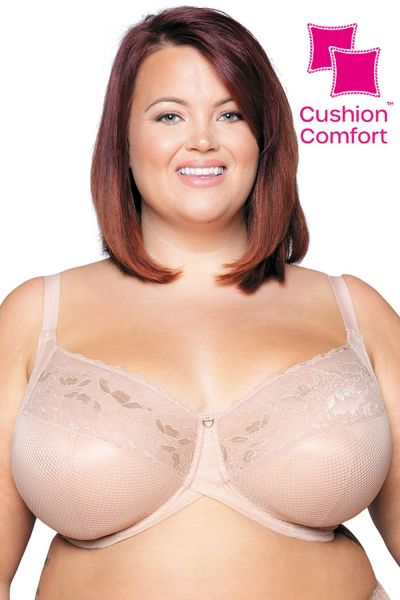 Curvy Kate Delightfull Full Cup Bra Latte Underwired, non-padded full cup bra with Cushion Comfort pads 70-105, E-O CK001111-LAT