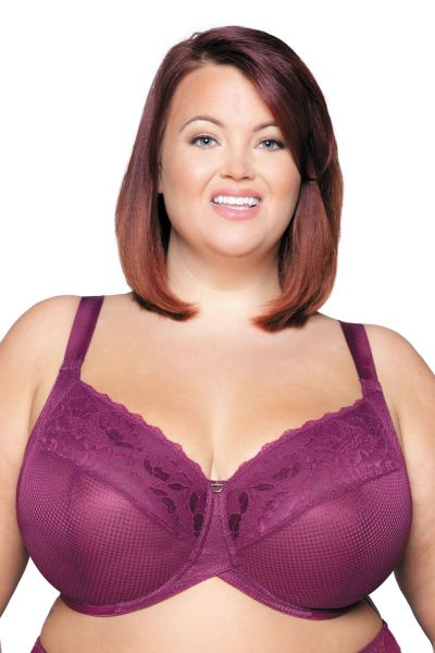 Curvy Kate Delightfull Full Cup Bra Plum Underwired, non-padded full cup bra with Cushion Comfort pads 70-105, E-O CK001111-PLM