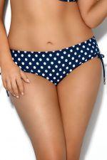 Dots String Side Bikini Briefs Blue Polka Dot