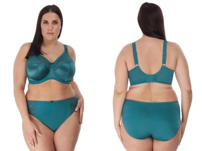 Elomi Cate UW Full Cup Bra Teal Underwired, non-padded banded bra in full cup 75-105, E-O EL4030-TEL