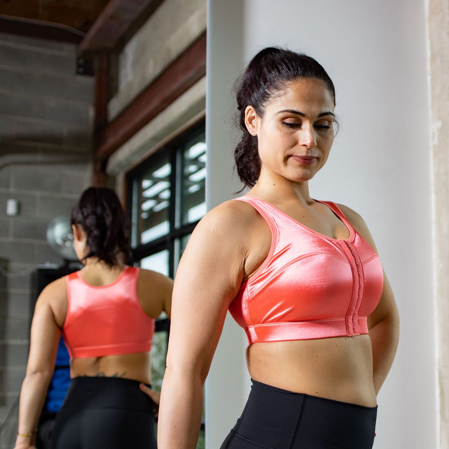 d986e7c497d Enell Enell Sports Bra Coral