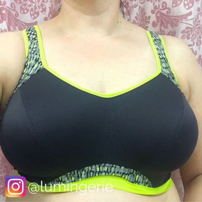 Freya Active Epic Crop Top Sports Bra Lime Twist Underwired padded sports bra with convertible straps 65-90, D-K AC4004-LIT